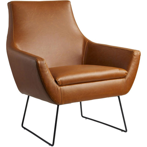 Kendrick Leather Chair - Brown Furniture Adesso