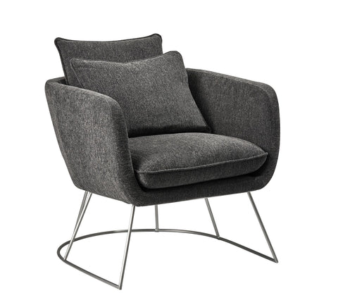 Stanley Chair - Charcoal Grey Furniture Adesso