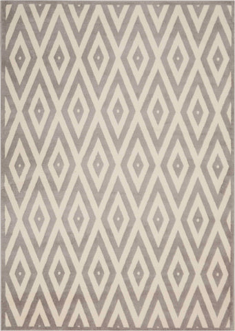 "Grafix White/Grey Rug - 2 Size Options Rugs Nourison 5'3"" x 7'3"" Area"