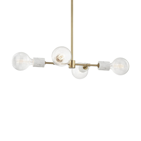 Asime 4 Light Pendant - Aged Brass Ceiling Mitzi