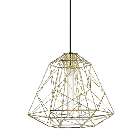 Ani 1 Light Pendant - Polished Brass Ceiling Mitzi