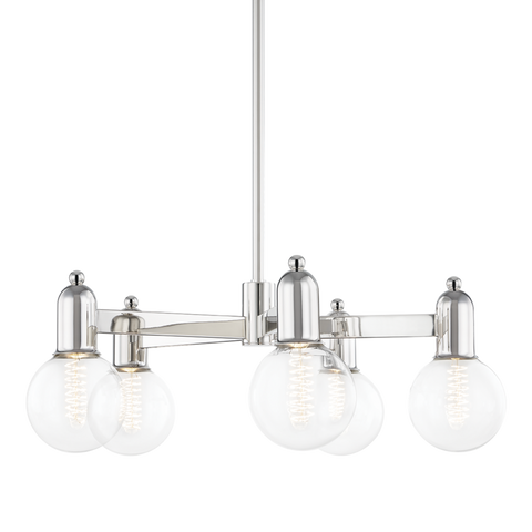 Bryce 5 Light Chandelier - Polished Nickel