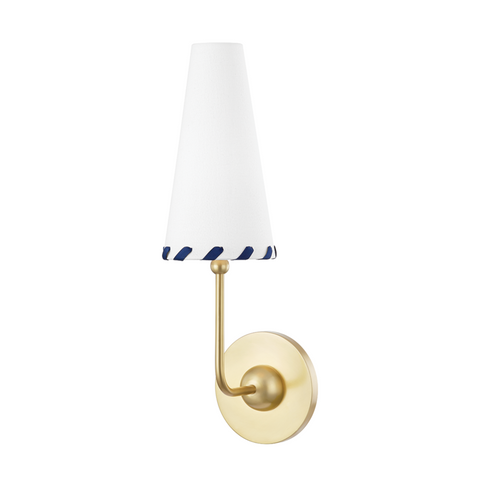 Cassie 1 Light Wall Sconce - Aged Brass