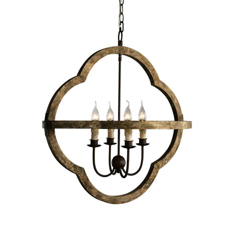 Bolonia Chandelier - Weathered Wood