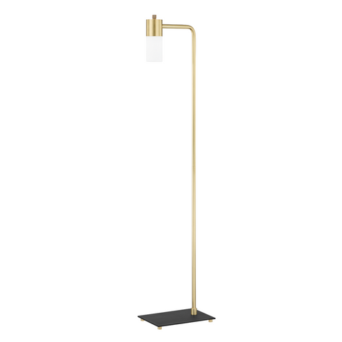 Lola 1 Light Floor Lamp - Aged Brass