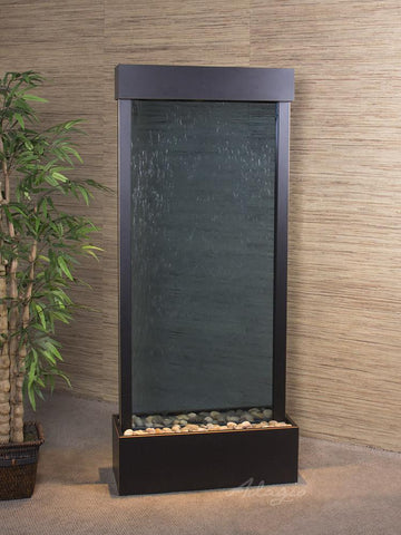 Harmony River Center - Blackened Copper - Clear Glass Fountains Adagio