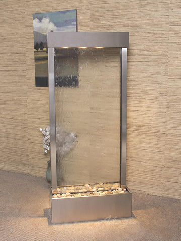 Harmony River Center - Stainless Steel - Clear Glass Fountains Adagio