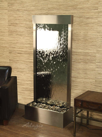 Harmony River Flush - Stainless Steel - Silver Mirror Fountains Adagio