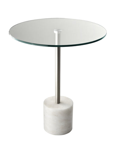 Blythe End Table - White Furniture Adesso