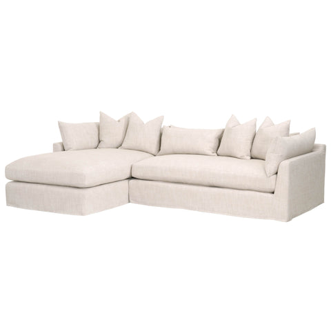 "Haven 110"" LF Lounge Slipcover Sofa - Bisque"