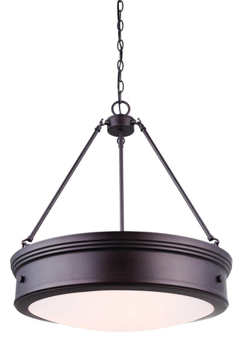 "Boku 20""w Chandelier - Oil Rubbed Bronze Ceiling 7th Sky Design"