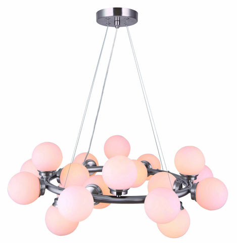 Esha 20 Light Chandelier - Brushed Nickel