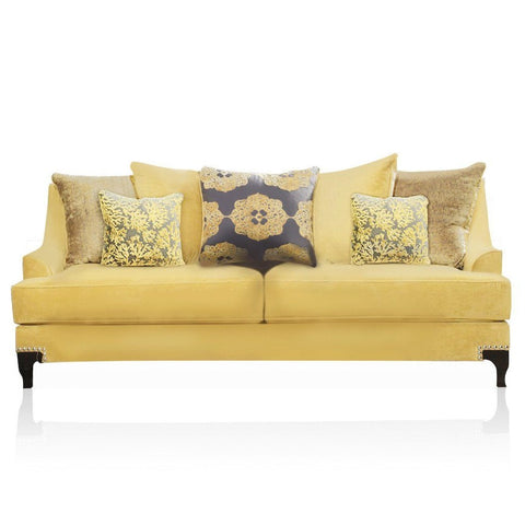 Lucilia Premium Fabric Sofa Gold Furniture Enitial Lab