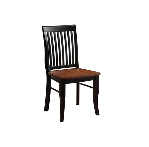 Tera Two-Tone Dining Chair Antique Black & Oak (Set of 2)