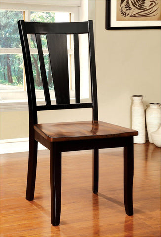 Lope Two-Tone Dining Chair Black & Cherry