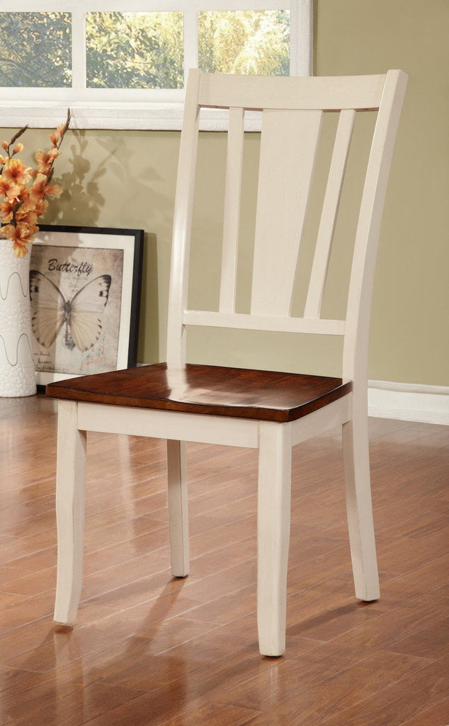 Lope Two-Tone Dining Chair Vintage White & Cherry (Set of 2) Furniture Enitial Lab