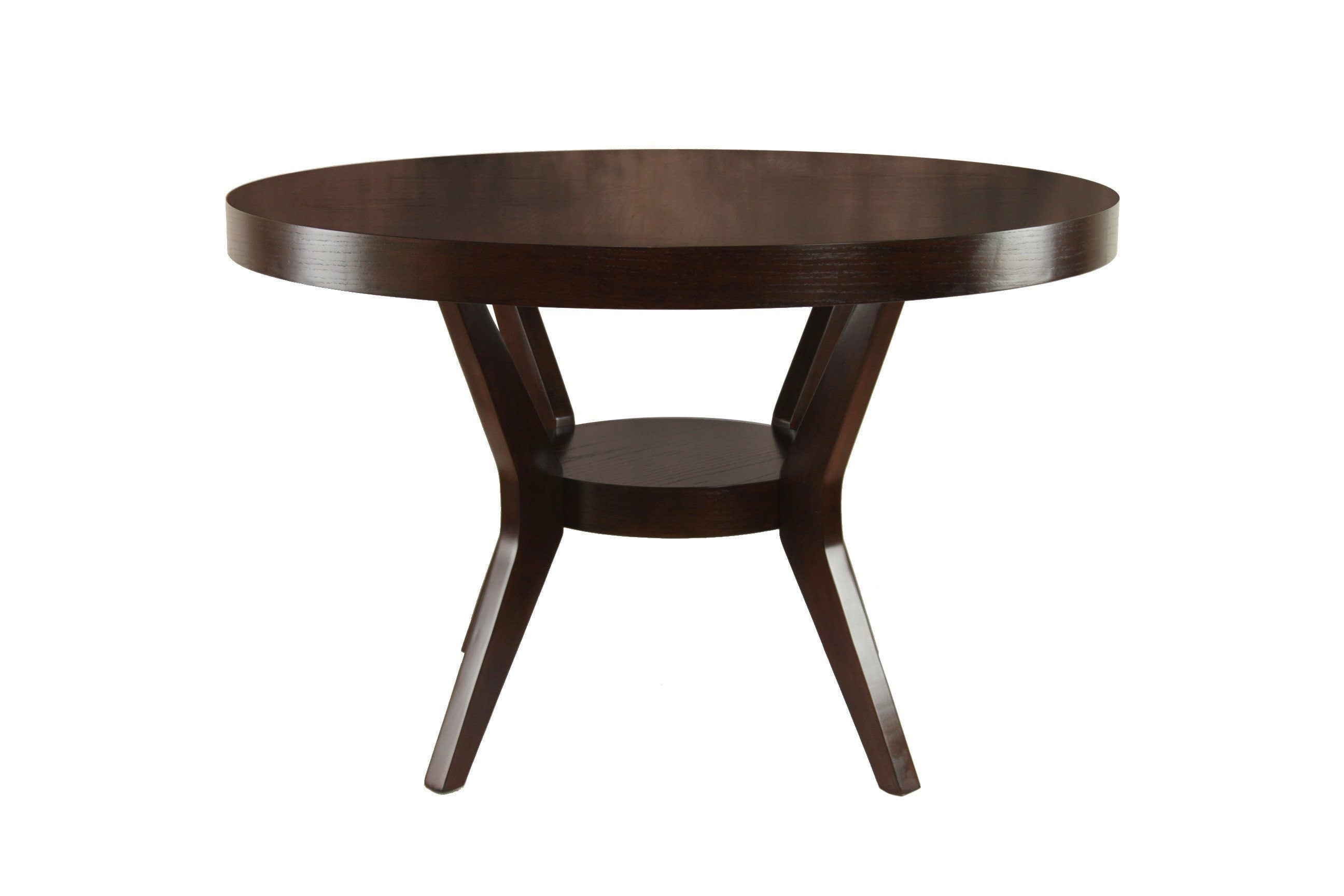 Ollie Modern Round Angled Table Espresso Furniture Enitial Lab