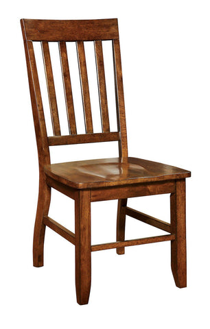 Calve Slat Back Dining Chair Dark Oak (Set of 2)