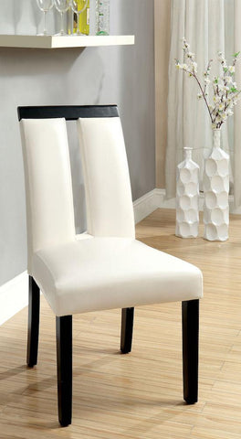 Henway Keyhole Dining Chair White Leatherette