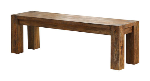 Ward Wood Dining Bench Dark Oak