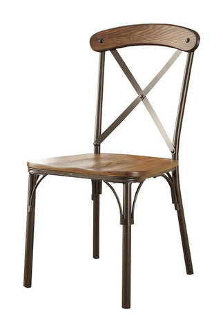 Olem Wood & Metal Dining Chair Bronze (Set of 2)
