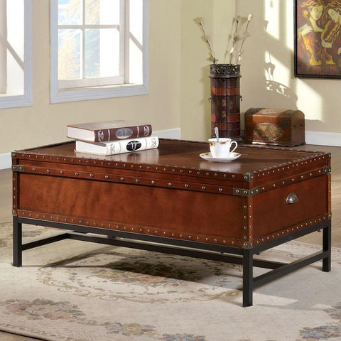 Jaylen Trunk Style Coffee Table Cherry