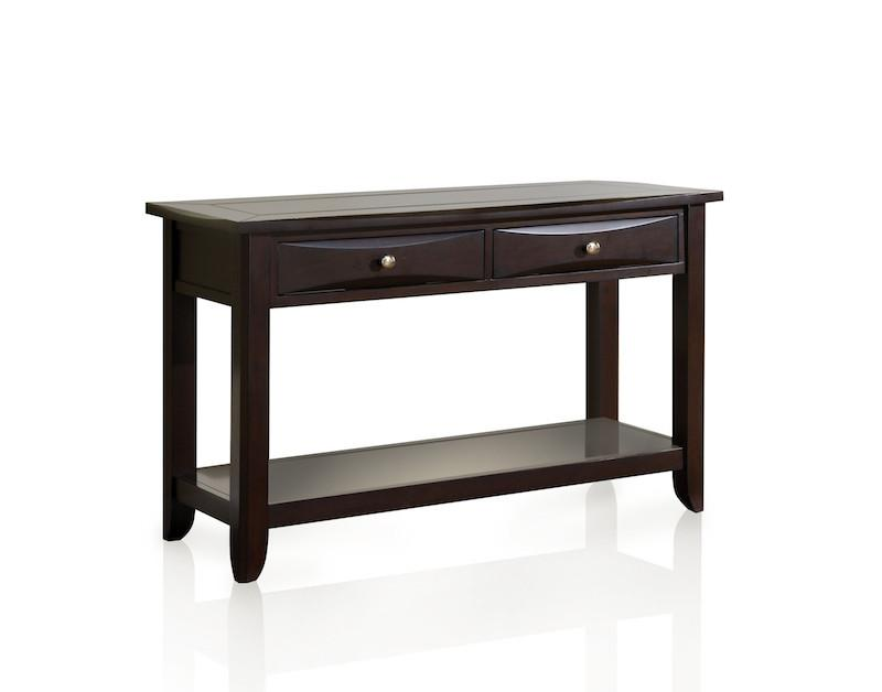 Mina 2-Drawer Sofa Table Espresso