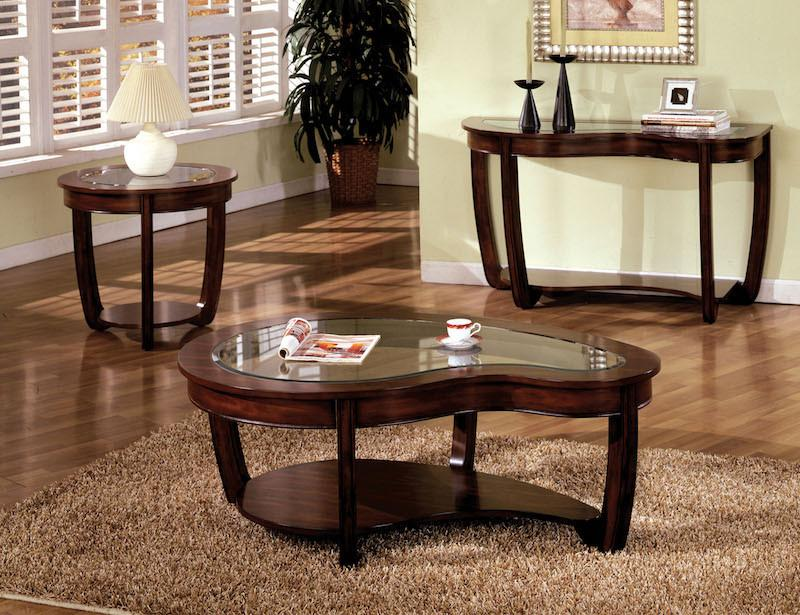 Solano Glass Top Coffee Table Dark Cherry Furniture Enitial Lab