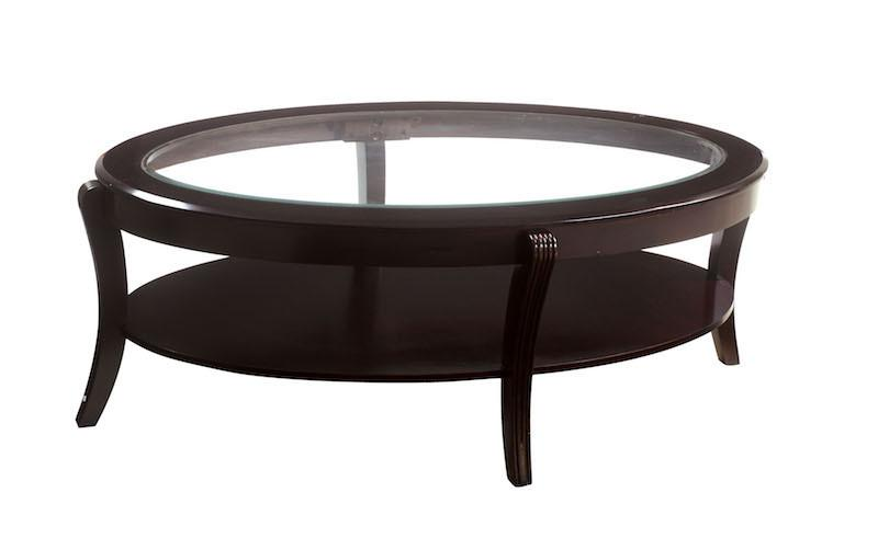 Diane Oval Coffee Table Espresso Furniture Enitial Lab