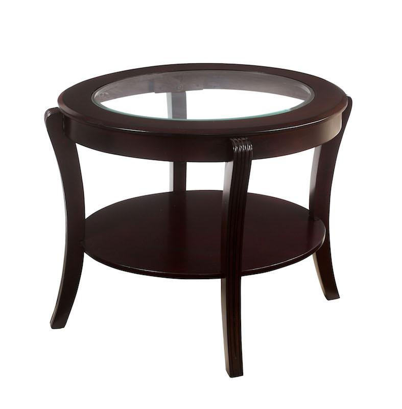 Diane Oval End Table Espresso Furniture Enitial Lab