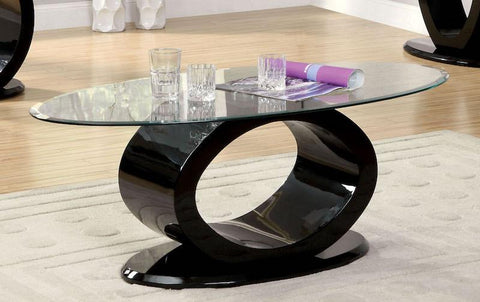 Ferera Modern O-Shaped Coffee Table Black
