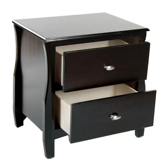Trente 2-Drawer Nightstand Espresso Furniture Enitial Lab