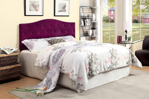 Tara Flax Fabric Full/Queen Headboard Purple