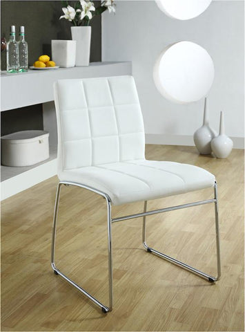 Kellen Modern Tufted Leatherette Dining Chair White