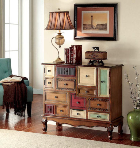 Hester Multi-Color Storage Chest Antique Walnut