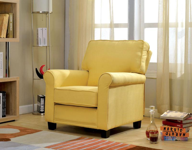 Soro Linen Arm Chair Yellow Furniture Enitial Lab