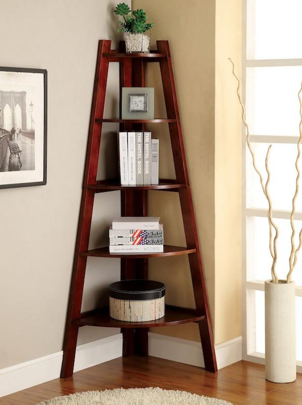 Merlor 5-Tier Corner Display Stand Cherry