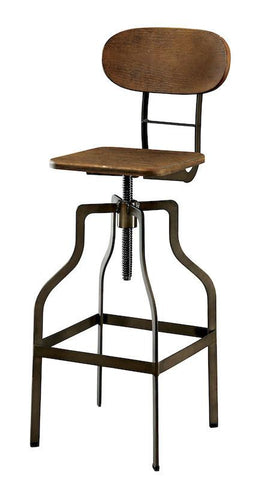 Cayan Wood & Metal Bar Stool Oak Furniture Enitial Lab Oak