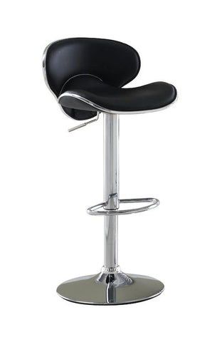 Kilm Modern Curved Leatherette Bar Stool Black Furniture Enitial Lab