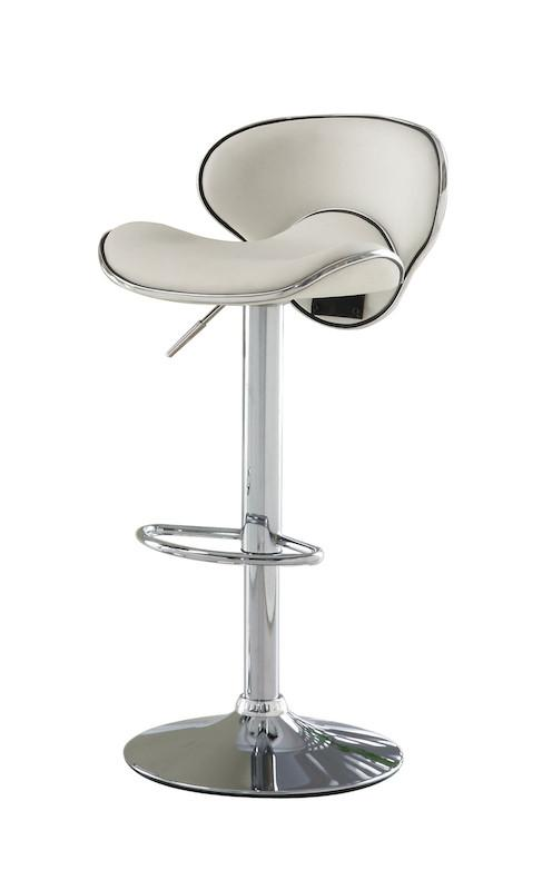 Kilm Modern Curved Leatherette Bar Stool White Furniture Enitial Lab