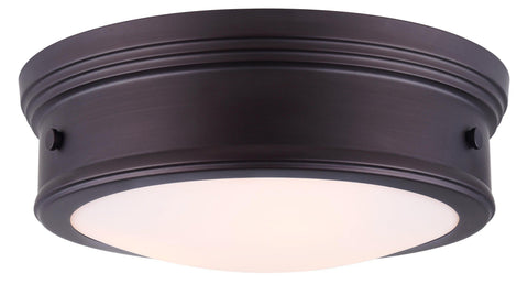 "Boku 15""w Flush Mount - Oil Rubbed Bronze Ceiling 7th Sky Design"