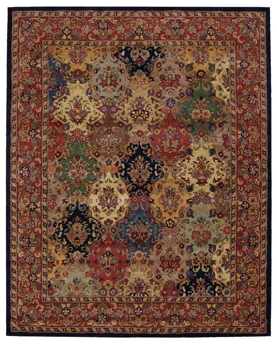 "India House Multicolor Rug - 5 Size Options Rugs Nourison 2'3"" x 7'6"" Runner"