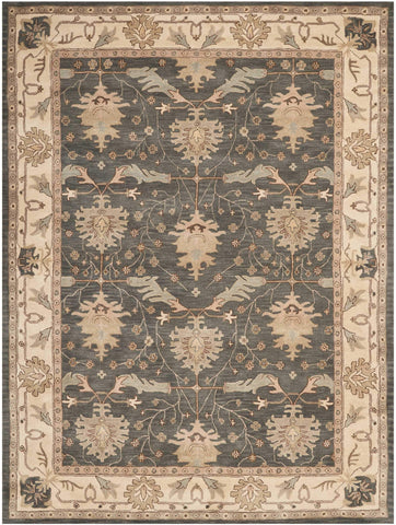 India House Blue Rug - 8 Size and Shape Options Rugs Nourison