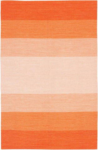 India 1 2'6x7'6 Orange Rug Rugs Chandra Rugs