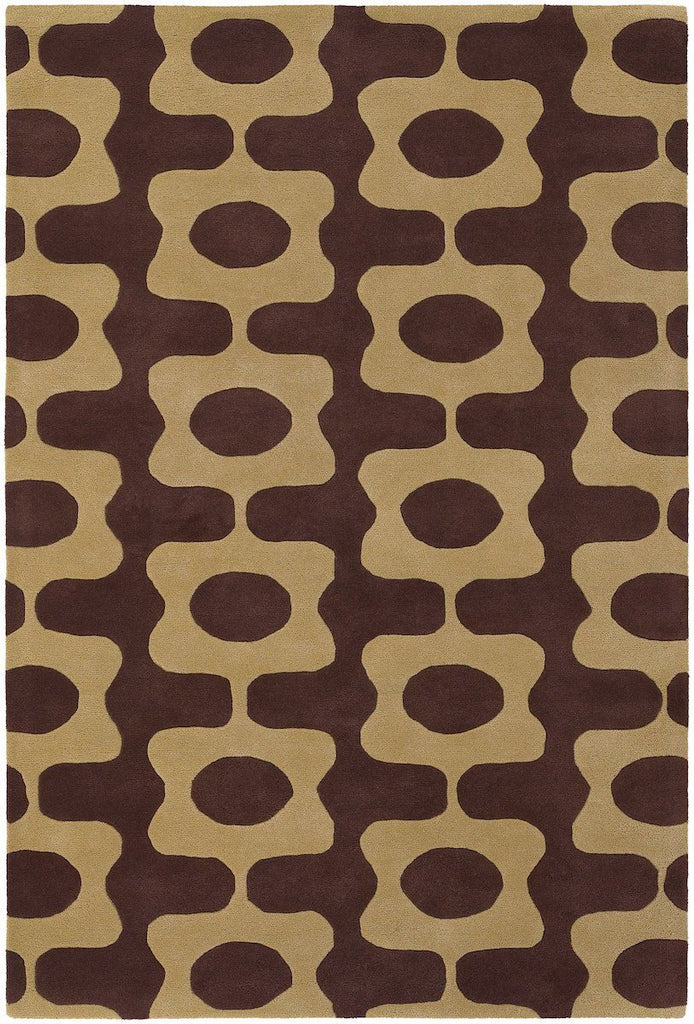 Inhabit 21600 5'x7'6 Brown Rug Rugs Chandra Rugs