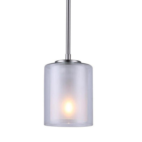 Bay 1 Light Mini Pendant - Brushed Nickel