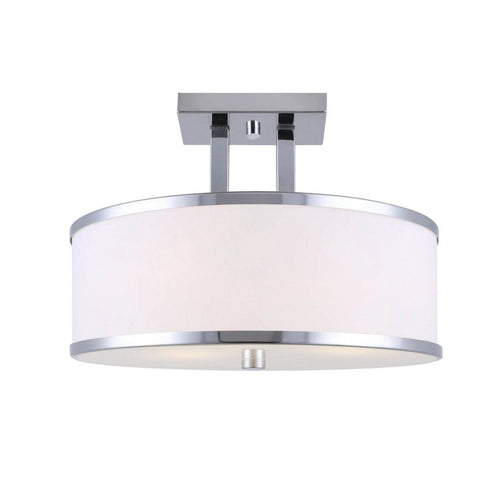 "Amelia 3 Light 15""w Semi Flush - Chrome"