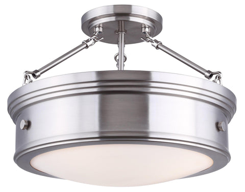 "Boku 15""w Semi-Flush - Brushed Nickel"