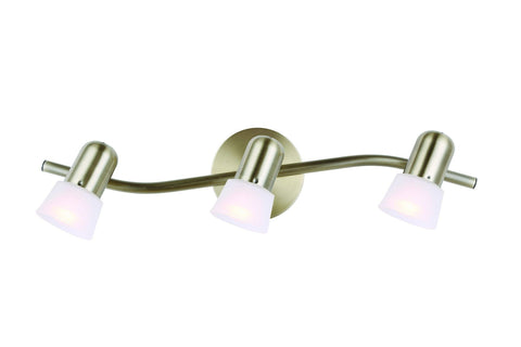 Omni 3 Light Track - Antique Brass Ceiling 7th Sky Design