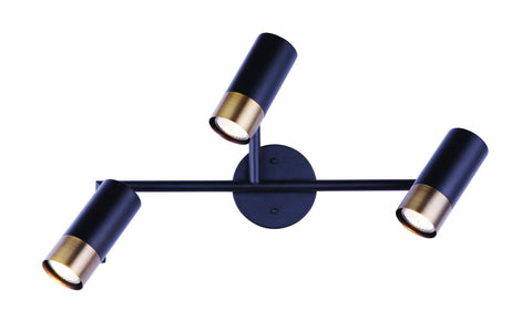 Castor 3 Light Track - Black and Gold Ceiling 7th Sky Design